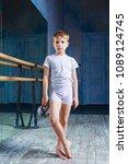 boy ballet dancer posing with... | Shutterstock . vector #1089124745