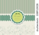 baby beautiful girl card with... | Shutterstock . vector #108913028