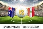 australia vs peru. soccer... | Shutterstock . vector #1089132335