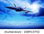 military airplan on the speed | Shutterstock . vector #108913742