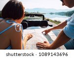 couple auto travelers plans... | Shutterstock . vector #1089143696