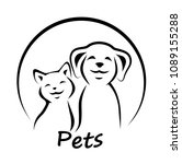 vector icon cat and dog. | Shutterstock .eps vector #1089155288