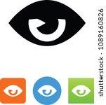 sleepy eye icon  | Shutterstock .eps vector #1089160826