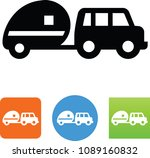 suv with rv trailer icon | Shutterstock .eps vector #1089160832