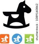vector rocking horse icon | Shutterstock .eps vector #1089160862