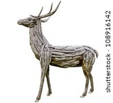 Wooden Deer Made From Nature...