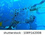 electronic circuit board close... | Shutterstock . vector #1089162008