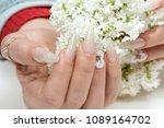 amazing 3d flower nail art...   Shutterstock . vector #1089164702