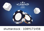 casino poker chips and dice.... | Shutterstock .eps vector #1089171458