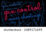 gun control word cloud on a... | Shutterstock .eps vector #1089171695