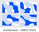 collection of abstract... | Shutterstock .eps vector #1089172322