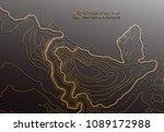 map line of topography. vector...   Shutterstock .eps vector #1089172988