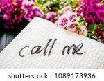 The Inscription Call Me On A...