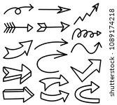 set of arrows | Shutterstock .eps vector #1089174218