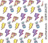 thunders with pineapple and... | Shutterstock .eps vector #1089184295