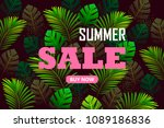 tropical background. summer... | Shutterstock .eps vector #1089186836