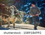 vama  romania  26 january 2018  ... | Shutterstock . vector #1089186992