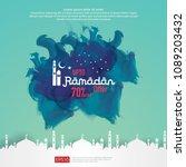 ramadan sale offer banner... | Shutterstock .eps vector #1089203432