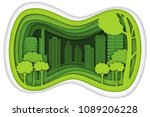 carving design of city town... | Shutterstock .eps vector #1089206228