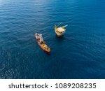 soil boring boat  a... | Shutterstock . vector #1089208235