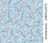 flower illustration pattern  i... | Shutterstock .eps vector #1089212072