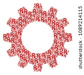 vector rx symbol icons are... | Shutterstock .eps vector #1089214115