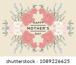 happy mother's day greeting... | Shutterstock .eps vector #1089226625