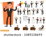 set of business people wearing... | Shutterstock .eps vector #1089228695