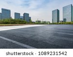 empty road with modern business ... | Shutterstock . vector #1089231542