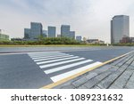 empty road with modern business ...   Shutterstock . vector #1089231632