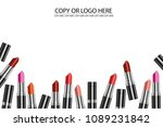 vector colorful lipstick on...   Shutterstock .eps vector #1089231842