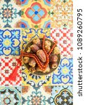 arabian best quality dates and... | Shutterstock . vector #1089260795