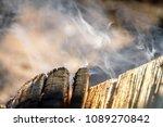 smoke bonfire trees | Shutterstock . vector #1089270842