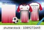 soccer jersey template  sport t ... | Shutterstock .eps vector #1089272645