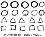 doodle vector circles ... | Shutterstock .eps vector #1089275222