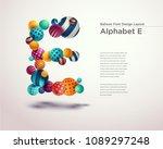 alphabet ball font design... | Shutterstock .eps vector #1089297248