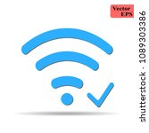 wifi icon with check sign. wifi ...   Shutterstock .eps vector #1089303386