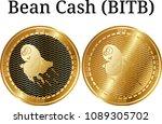 set of physical golden coin... | Shutterstock .eps vector #1089305702
