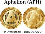 set of physical golden coin... | Shutterstock .eps vector #1089307292