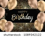 happy birthday card template... | Shutterstock .eps vector #1089342122