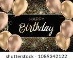 happy birthday card template... | Shutterstock .eps vector #1089342122