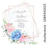 polygonal floral vector design... | Shutterstock .eps vector #1089343325