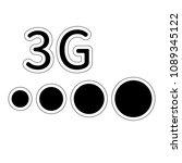 3g network filled vector icon.... | Shutterstock .eps vector #1089345122