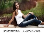 beautiful happy young female... | Shutterstock . vector #1089346406