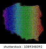pixel poland map. halftone...   Shutterstock .eps vector #1089348392