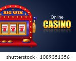 online casino and big win... | Shutterstock .eps vector #1089351356