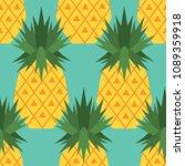 fresh exotic fruits  hand drawn ... | Shutterstock .eps vector #1089359918