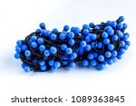 blue christmas lights in a... | Shutterstock . vector #1089363845