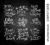 collection of hand written... | Shutterstock . vector #1089371858