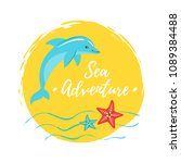 vector cartoon style summer... | Shutterstock .eps vector #1089384488